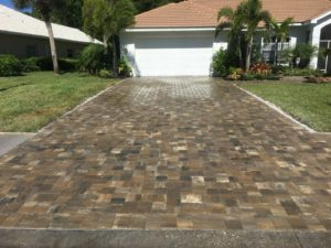 pavers sealed with wet look