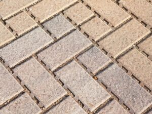 permeable pavers installed in a sidewalk