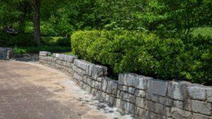 a beautiuful paver wall