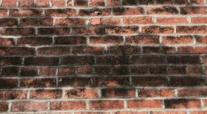 black stains on brick